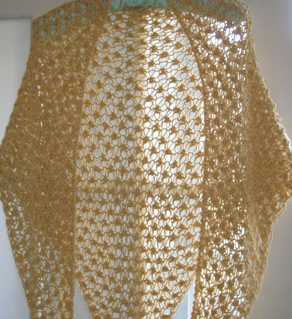cropped gold shawl