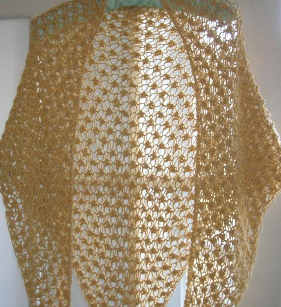 cropped gold shawl