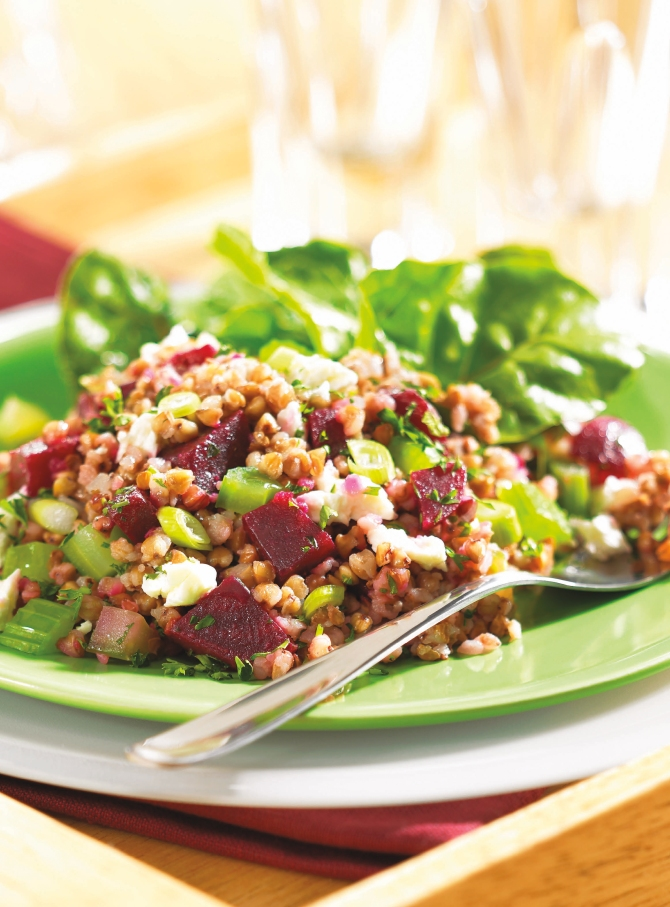 Kasha and Beet Salad with Celery and Feta (page 92)