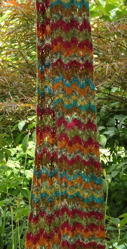 colorful waves scarf 1