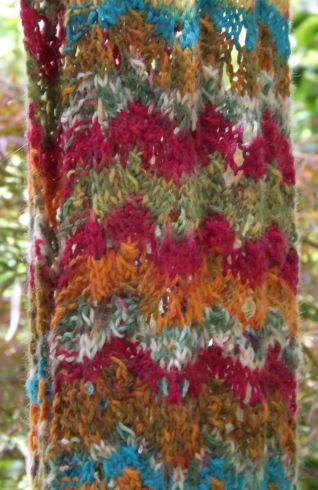 colorful waves scarf 2