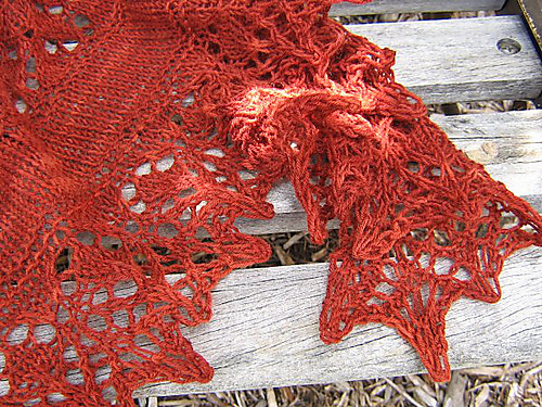 slice of spring autumn shawl 2