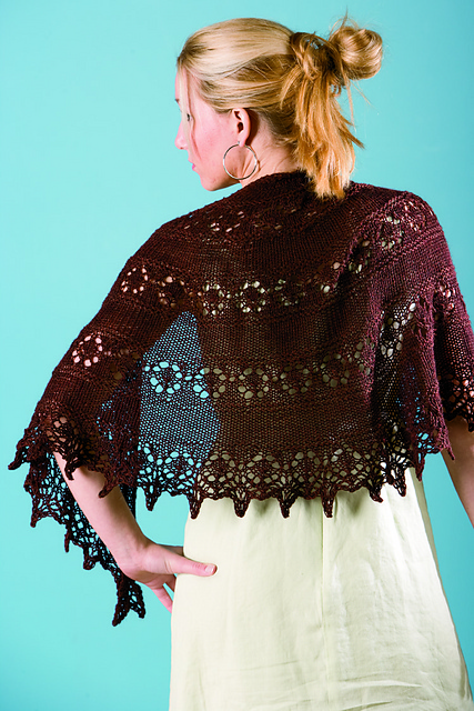 slice of spring autumn shawl